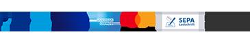 PayPal, Visa, Mastercard, Lastschrift, Kauf auf Rechnung